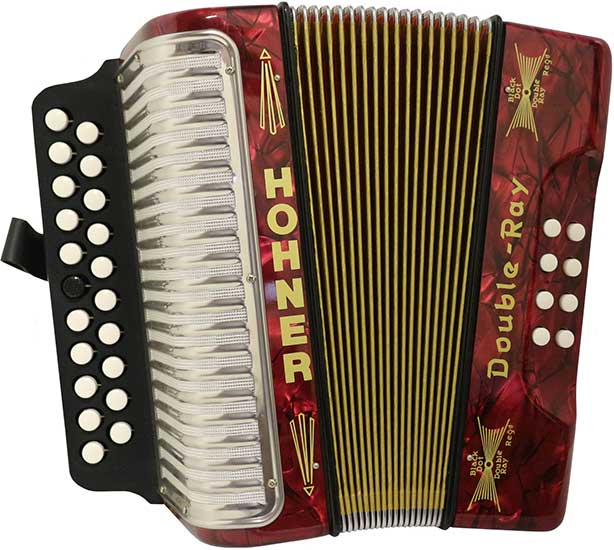 Hohner Double Ray Black Dot Melodeon Image