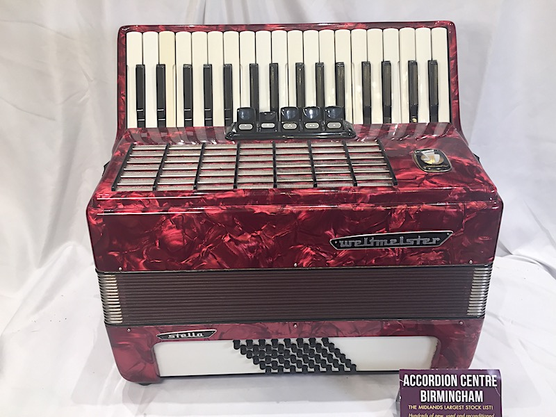 WELTMEISTER 48 BASS PIANO ACCORDION Image